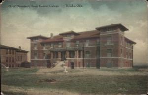 Tulsa OK Henry Kendall College c1910 Postcard OSAGE INDIAN CURIO CO
