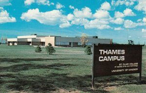 CHATHAM , Ontario , 1970-80s; Thames Campus of St. Clair College, U. of Windsor