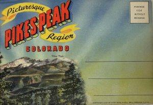 Pintoresca Pikes Pico Región Colorado Tarjeta Postal Libro 18 Pósters