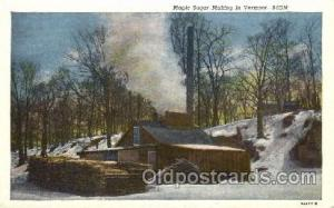 Maple Suger Vermont Farming, Farm, Farmer, Postcard Postcards  Maple Sugar Ve...