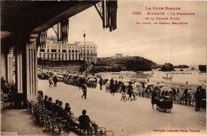 CPA BIARRITZ Promenoir de la grande Plage Casino Bellevue (868783)