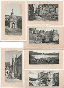 Palestina Israel Hebron Jeruzalem Nazareth 12 Advertising Postcards Lot  01.14
