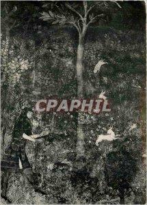 Postcard Modern Avignon Popes' Palace Fresco Tower Guard Dress Hunt Ferret