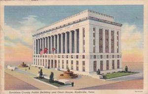 Tennesse Nashville Davidson County Public Building And Court house 1941