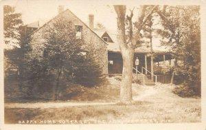LPS67 Jaffrey New Hampshire Happy Home Cottage the Ark Postcard RPPC