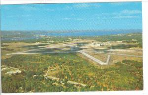 Aerial view of The Cherry Capitol Airport, Traverse City, Michigan, 40-60s