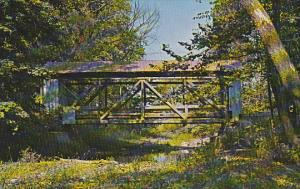 Licking County Covered Bridge Over Lobdell Creek St Albans Township Ohio
