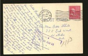 USA Postmark 1952 Littleton NH Whiteface Mountains Lake Placid Linen Postcard