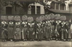 Swiss Switzerland Women Costumes Hats Trachten von St. Georgen Schwarzwald