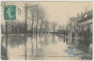 France; Paris Floods, 1910, Neuilly-Plaisance No 2 PPC, By O'Ludwik, Local PMK