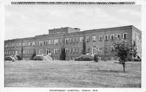 Government Hospital, Tomah, Wisconsin, Early Postcard, Unused