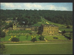 Derbyshire Postcard - Aerial View From The West, Chatsworth, Bakewell  RR783
