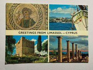 UNUSED MULTI PICTURE POSTCARD - GREETINGS FROM LIMASSOL CYPRUS (KK2182)