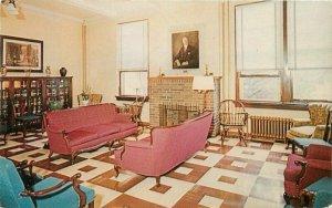 Burlington New Jersey 1950 Masonic Home Interior Parlin Color Postcard 21-6250