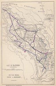 Map ; ILE D'OLERON , France , 40-50s #2