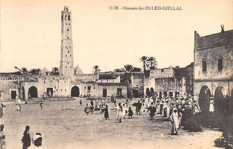 Algeria, Biskra, Mosquee des Ouled-Djellal, native people