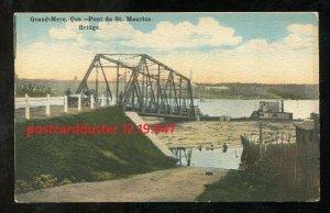947 - GRAND MERE Quebec 1920s Pont du St Maurice. Bridge
