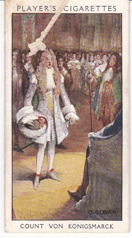 Cigarette Card Player's Dandies No 14 Count von Konigsmarck