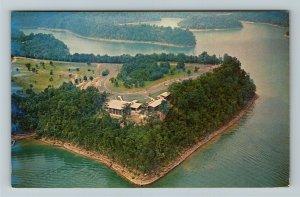 Jamestown KY- Kentucky, Aerial View, Lure Lodge, Lake Cumberland Chrome Postcard