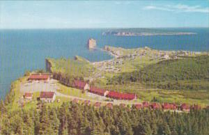 Canada Panoramic View Of Peak O'Down Hotel Perce Quebec