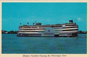 Louisiana New Orleans Steamer President Cruising The Mississippi