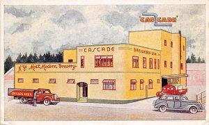 Cascade Brewery Cascade Beer Postcard Writing on Back