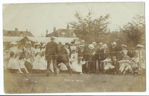 Girls V Boys in Tug Of War Competition, Edwardian Era RP PPC, Unknown Area Fete