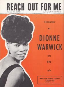 Reach Out For Me Dionne Warwick 1960s Sheet Music