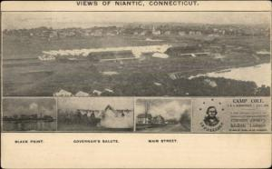 Niantic CT Camp Cole Multi-View 1906 Postcard #2