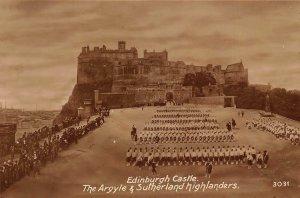 Edinburgh Castle The Argyle & Sutherland Highlanders Postcard