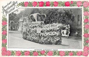 LPS63 Portland Oregon Rose Festival Decorated Automobile Parade Float Postcard