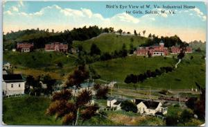 Salem, West Virginia Postcard Bird's-Eye View Industrial School for Girls c1910s