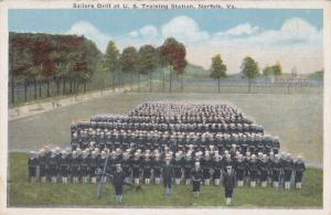 Sailors Drill At U. S. Training Station, NORFOLK, Virginia, 1910-1920s