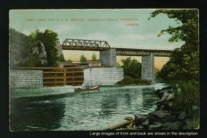 First Lock and GTR bridge Kingston Mills c 1908