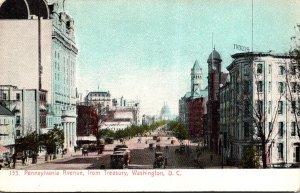 Washington D C Trolleys On Pennsylvania Avenue From Treasury