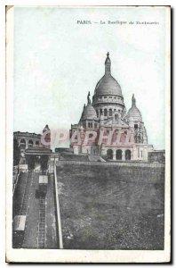 Postcard Old Montmartre Basilica of Montmartre