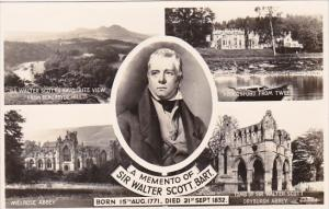 Scotland Memento Of Sir Walter Scott Melrose Abbey and More Real Photo