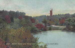 CINCINNATI, Ohio, PU-1909; Water Tower & Reservoir, Eden Park