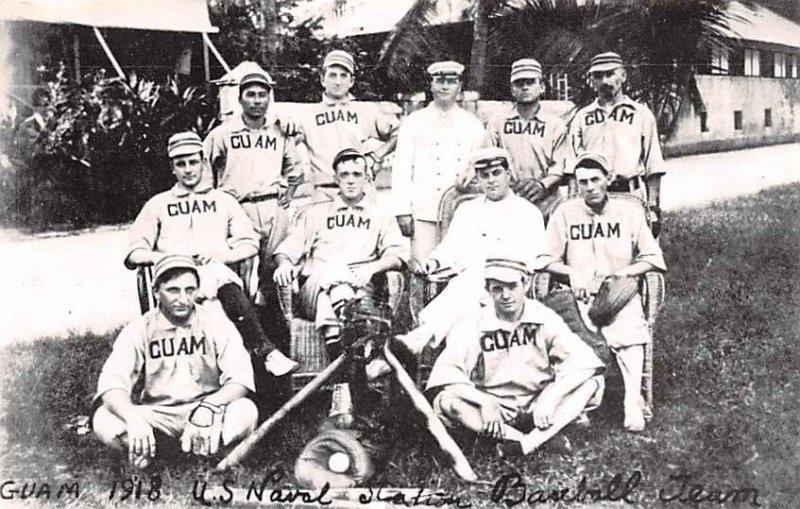 Guam 1918 US Naval Station Baseball Team Guam Unused
