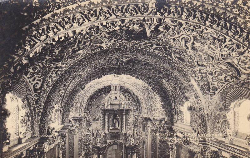 RP, Interior, Capilla Del Rosario, Domingo, Puebla, Puebla, Mexico, 1920-1940s