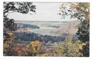 PA Washington Crossing State Park View from Bowman's Hill Vintage Postcard