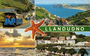 Vintage 1975 Postcard Llandudno, North Wales Multiview #12A104