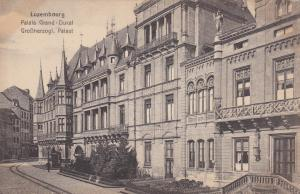 LUXEMBOURG, 1900-1910's; Palais Grand, Ducal, GroBherzogl, Palast