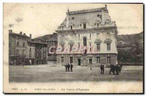 Old Postcard Bank Caisse d & # 39Epargne Rive de Gier