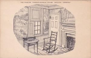 The Parlor Farrar Mansur House Weston Vermont
