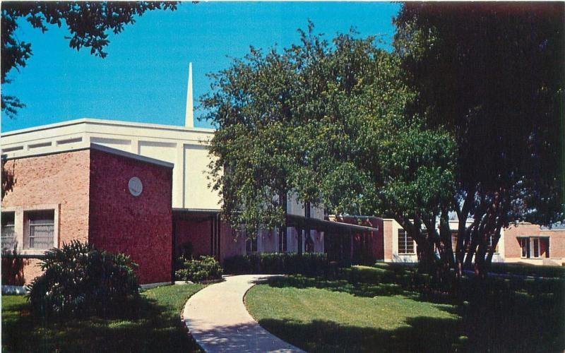 FORT MYERS FLORIDA FIRST CHURCH OF CHRIST SCIENTIST POSTCARD c1960s