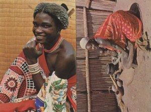 Swaziland Swazi Young Man Housewife Woman 2x Postcard s