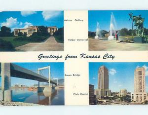 Pre-1980 FOUR VIEWS ON CARD Kansas City Missouri MO ho8017