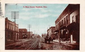 F32/ Dunkirk Ohio Postcard 1910 South Main Street Stores