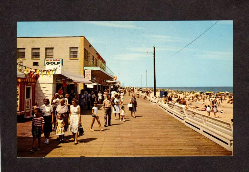 DE Beach Boardwalk Old Pro Golf Rehoboth Beach Delaware Postcard